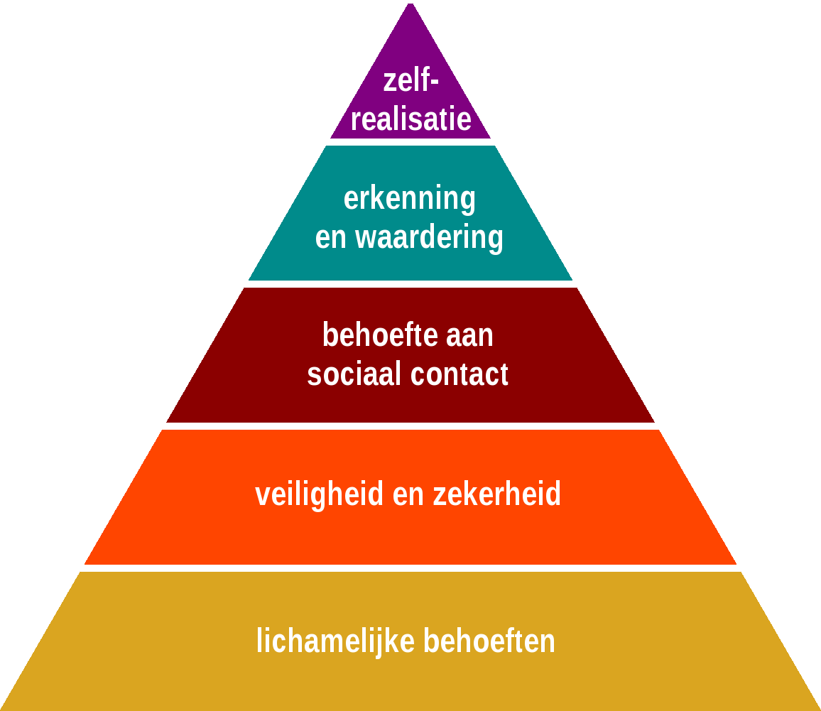 Notenboom lesstof piramide van maslow